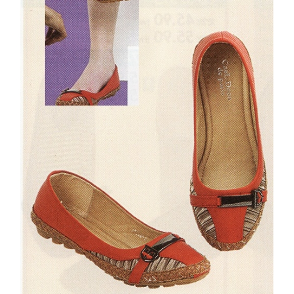 **CELLY**Ladies Flat/ Ballerina Shoe (Red)
