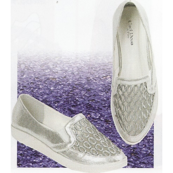 **CELLY**Ladies Flat/ Ballerina Shoe (Silver)