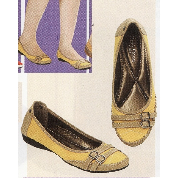 **CELLY**Ladies Flat/ Ballerina Shoe (Yellow)