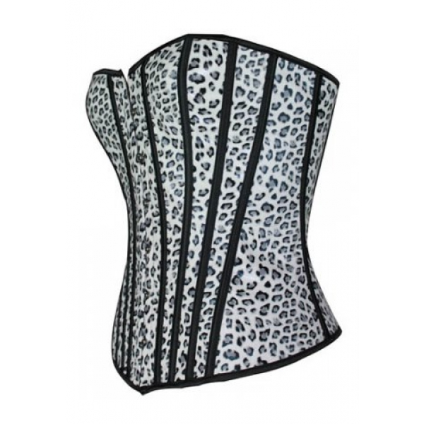 **CELLY**LEOPARD PRINT LEATHER CORSET