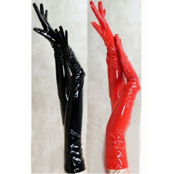 **CELLY** Long Leather Gloves