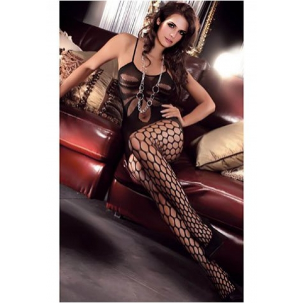 **CELLY** Lotus Pattern Bodystocking