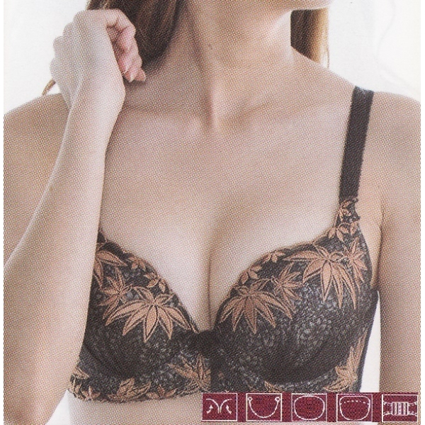 **CELLY**LUXURY B CUP BRA SET (BLACK)