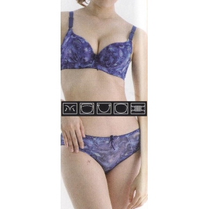 **CELLY** Luxury B Cup Bra Set (Blue)