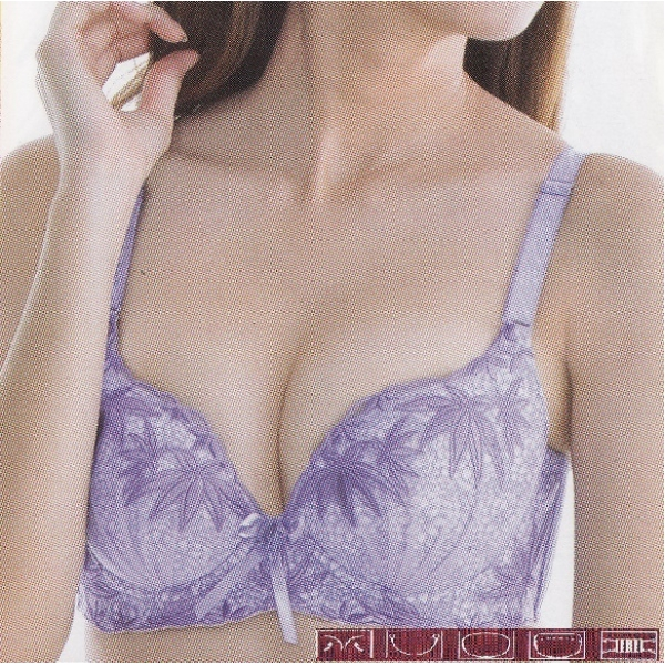**CELLY**LUXURY B CUP BRA SET (PURPLE)