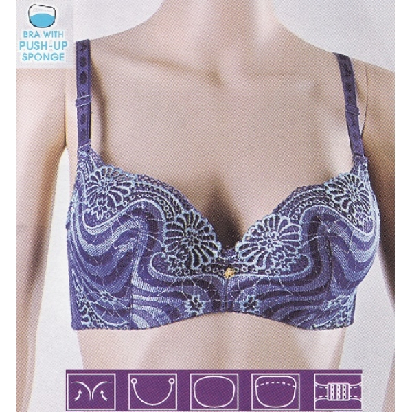 **CELLY**Luxury A Cup Bra (Blue)