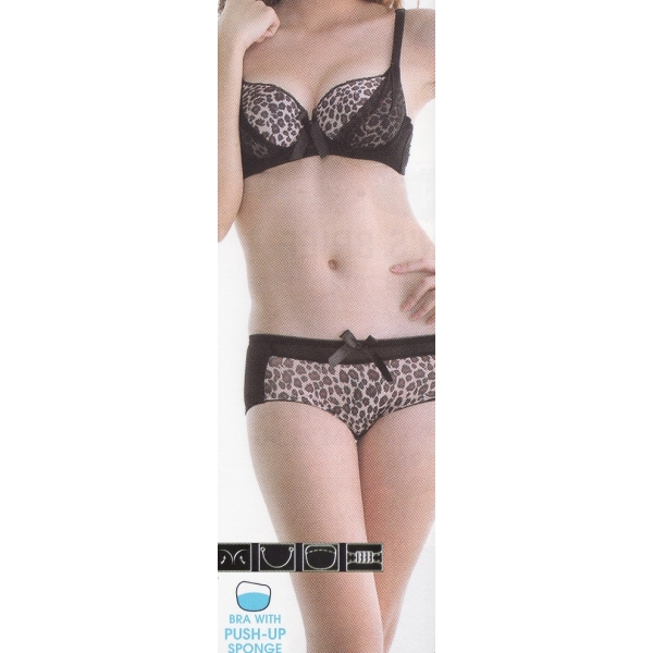 **CELLY**LUXURY A CUP BRA SET (BLACK)