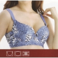 **CELLY** Luxury D Cup Bra (Blue)