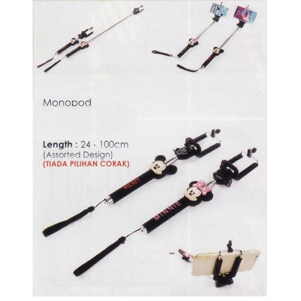 **CELLY** Mickey and Minnie Monopod (Assorted Color)