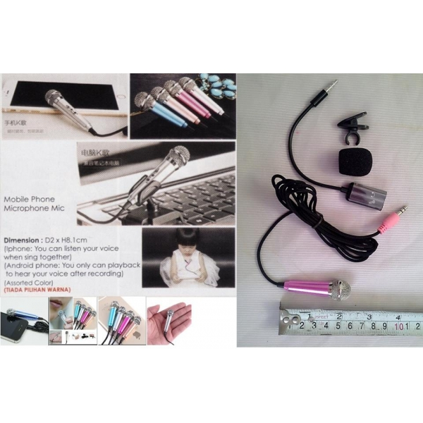 **CELLY**MINI MICROPHONE FOR MOBILE PHONE OR LAPTOP