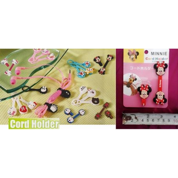 **CELLY**Minnie Mouse Cord Holder(2pcs per set)