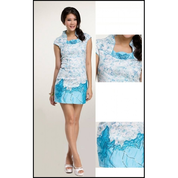 **CELLY**Modern Cheongsam (Blue)
