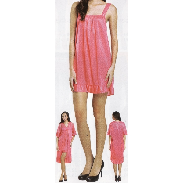 **CELLY**Night Wear ~ 2 in 1 Sleeping Gown ~ (Pink)