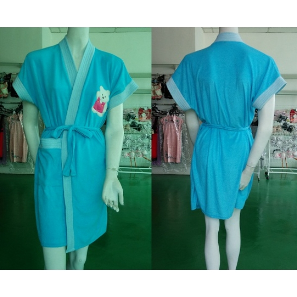 **CELLY**NIGHT WEAR ~ BATHROBE ~ (DARKER BLUE)