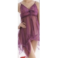 **CELLY** Night Wear ~ Sexy Transparent Sleeping Gown ~(Purple)