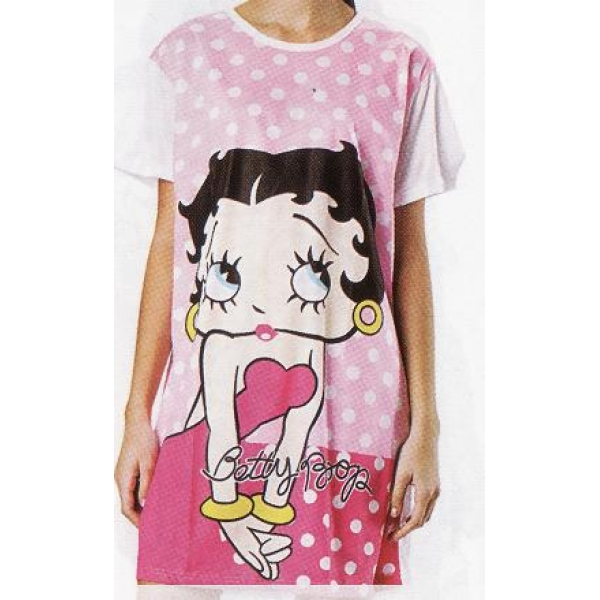 **CELLY**NIGHT WEAR ~ SLEEPING GOWN (BETTY BOOP) ~ (PINK)