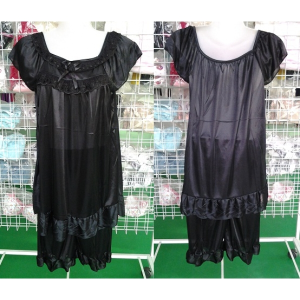 **CELLY**NIGHT WEAR ~ SLEEPING GOWN ~ (BLACK)