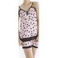 **CELLY** Night Wear ~ Sleeping Gown~(Black x Pink)