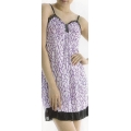 **CELLY** Night Wear ~ Sleeping Gown~(Black x Purple)