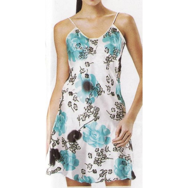 **CELLY**NIGHT WEAR ~ SLEEPING GOWN ~ (WHITE + BLUE)
