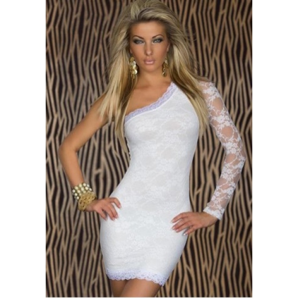 **CELLY** One Long Sleeve Embroidered Lace Mini Dress