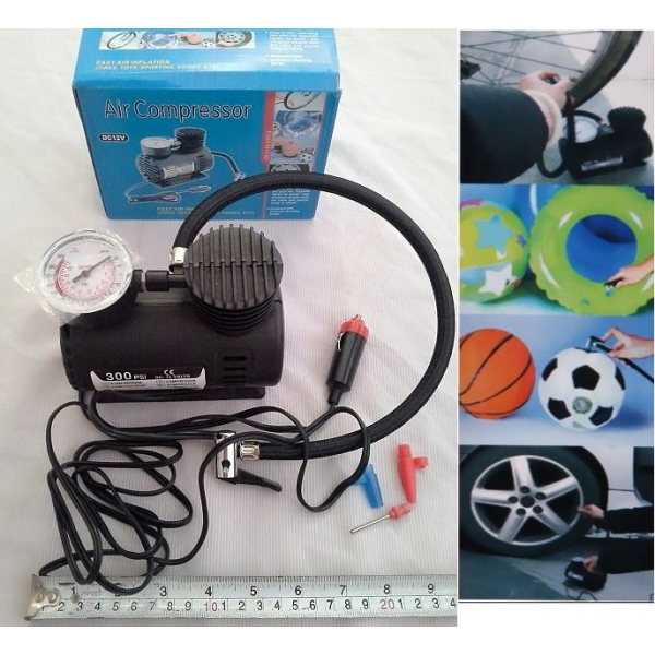 **CELLY**PORTABLE 12V 300PSI CAR TIRE TYRE INFLATOR PUMP MINI COMPACT ..