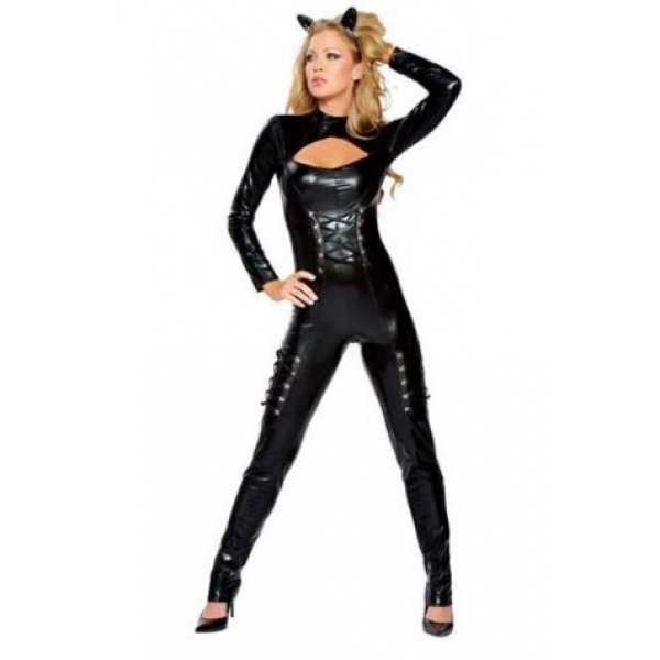 **CELLY** Sexy Vinyl Cat Woman Costume