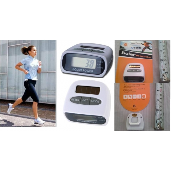 **CELLY**SOLAR PEDOMETER STEP COUNTER