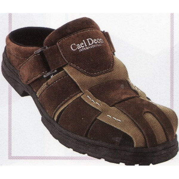 **CELLY**Up to Size 10 Men Sandal /Slipper(Coffee+Khaki)