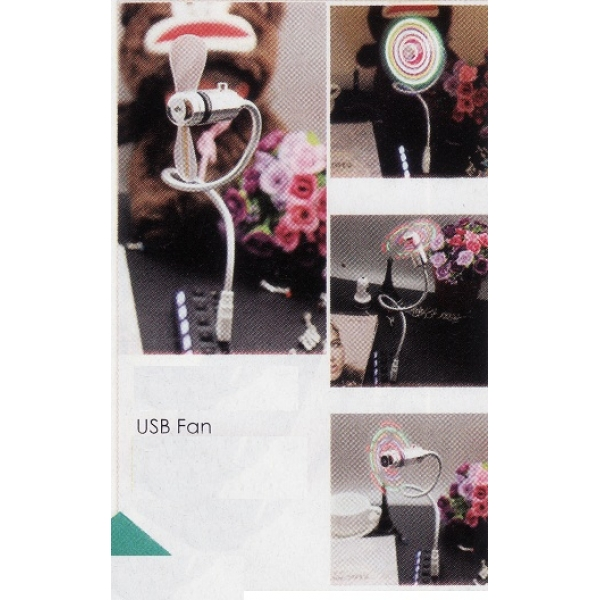 **CELLY**USB Fan with Light(Assorted Color)