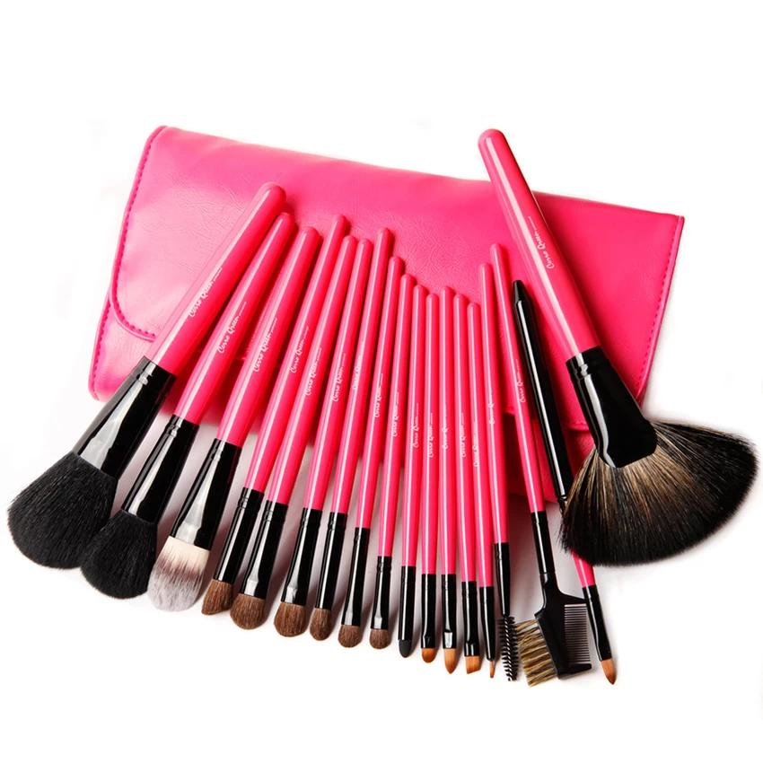 Cerro Qreen Professional Makeup Brush Set - Fuchsia Pink (18pcs)