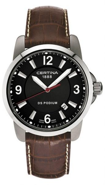 CERTINA C260.7029.42.66 DS Podium Date Quartz LSB Black Brown