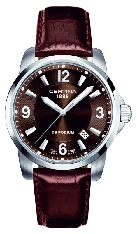CERTINA C260.7029.42.96 DS Podium Date Quartz LSB Brown