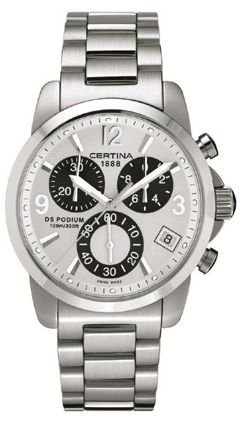 CERTINA C536.7129.42.16 DS Podium Chronograph Quartz SSB Silver
