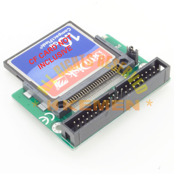 CF (Compact flash) to 3.5in IDE Adapter - CF-IDE 40 Pin Male