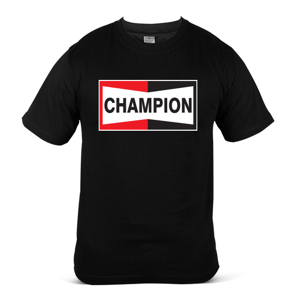 CHAMPION Auto Car Motorcycle Motorbike Racing Oil Fuel Unisex T Shirt