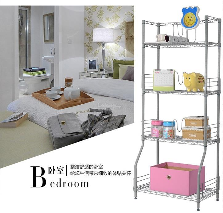 Charlotte 5 Tier Shelving Rack Adjustable Shelf