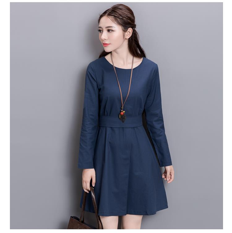 Charming Dress Blue-Size M,L,XL