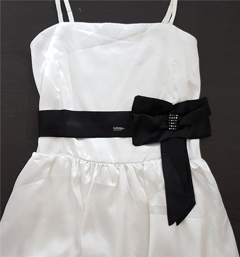 Charming Pearl White Spaghetti Strap Dress