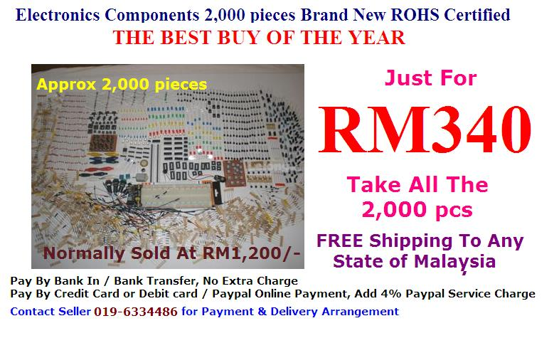 Cheap Lot of Electronic Components 2,000 pcs of Value Stock ROHS Cert.