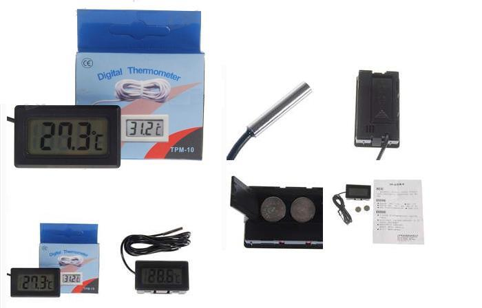 Cheapest! Digital LCD Thermometer for Aquariums with Remote Sensor