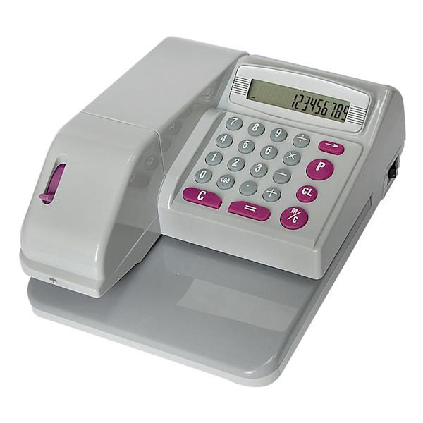 CHEQUE WRITER HEAVY DUTY MACHINE + 2 INK ROLLER + 3 YEARS WARRANTY
