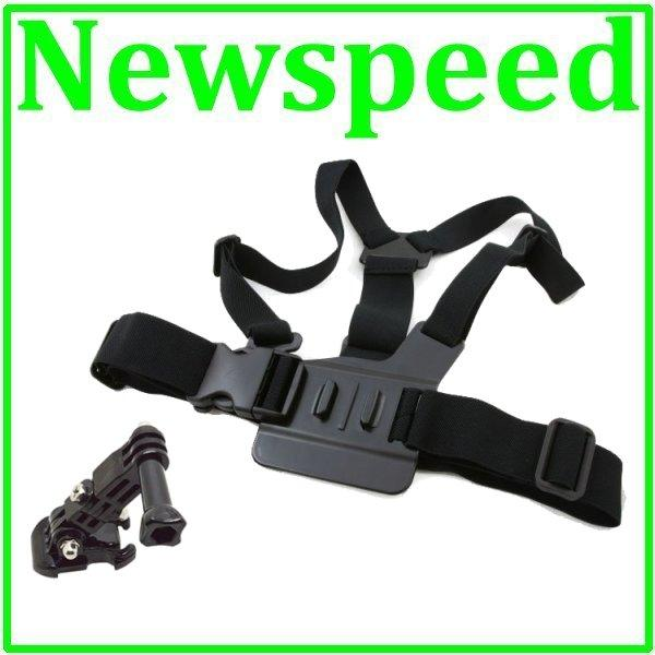 Chest Mount Strap with 3-way for Action Camera SJCAM SJ4000 GoPro Hero