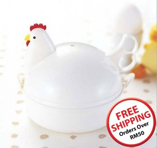Chicken Shaped Microwave Eggs Boiler Cooker (4 Eggs)~14689