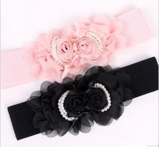 Chiffon Rose Pearl-Side Flexible Belt 14136