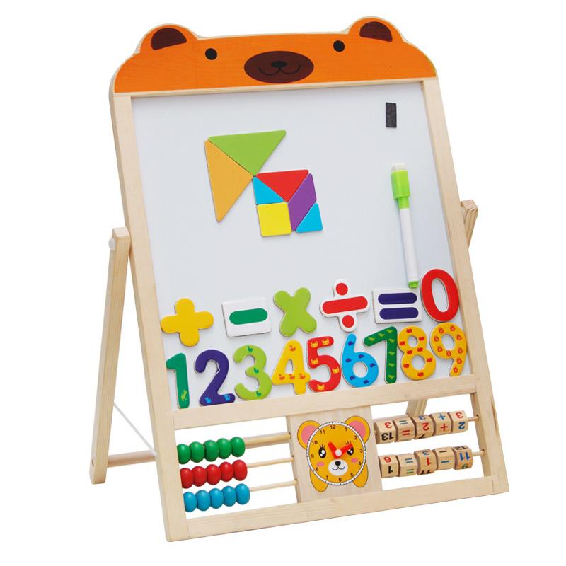 Children Double Sided Magnetic Learning Cartoon Sketchboard