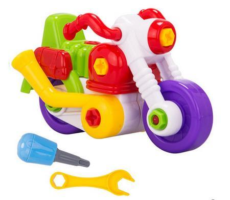Children Educational Toy Car Block Motorcycle