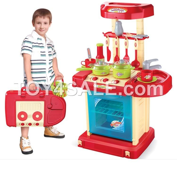 Children kitchen cooker toy play set playset educational for Kids kitchen set sale