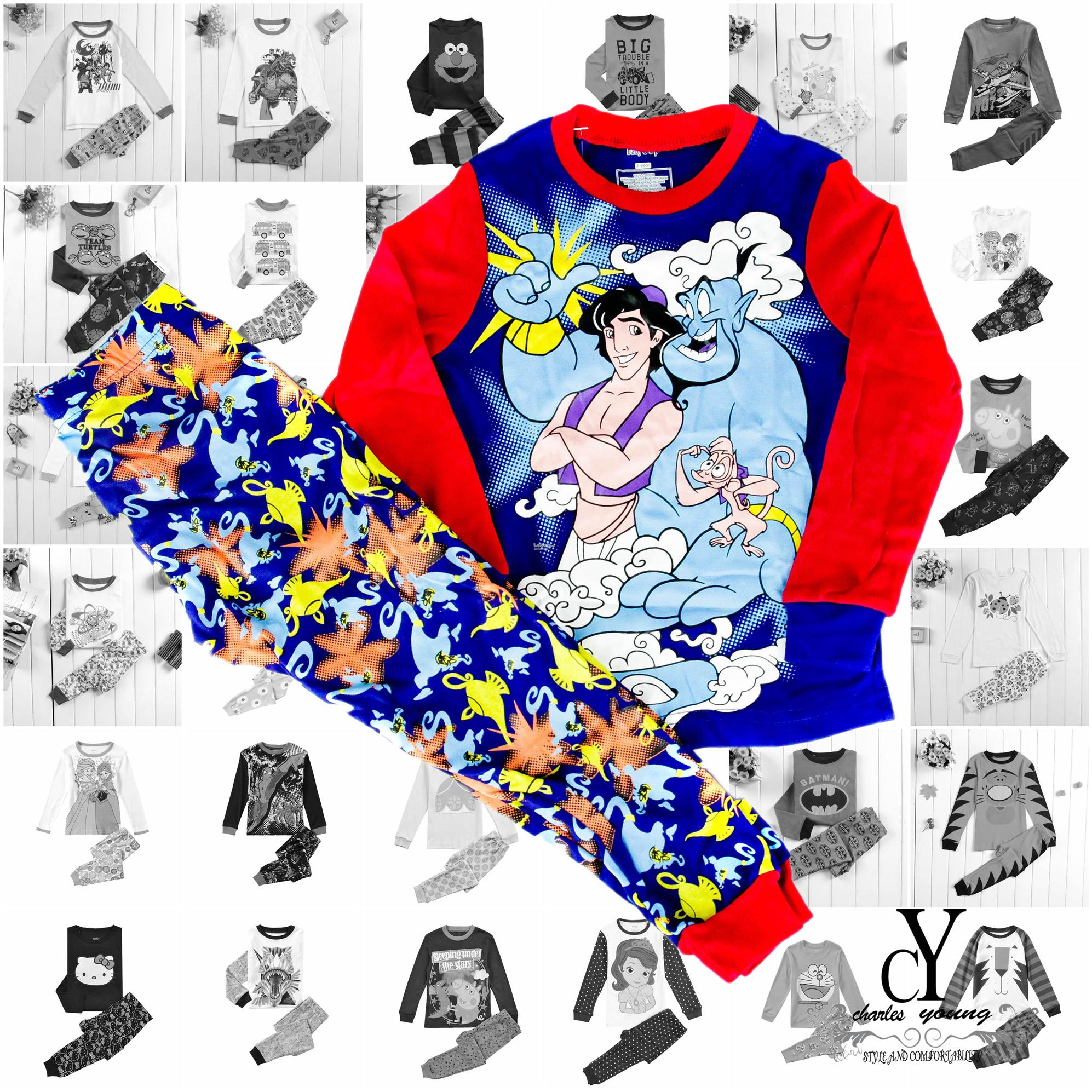 CHILDREN,PYJAMAS,PASANG,TIDUR,CARTOON,DISNEY,COTTON,ALADDIN,ARAB