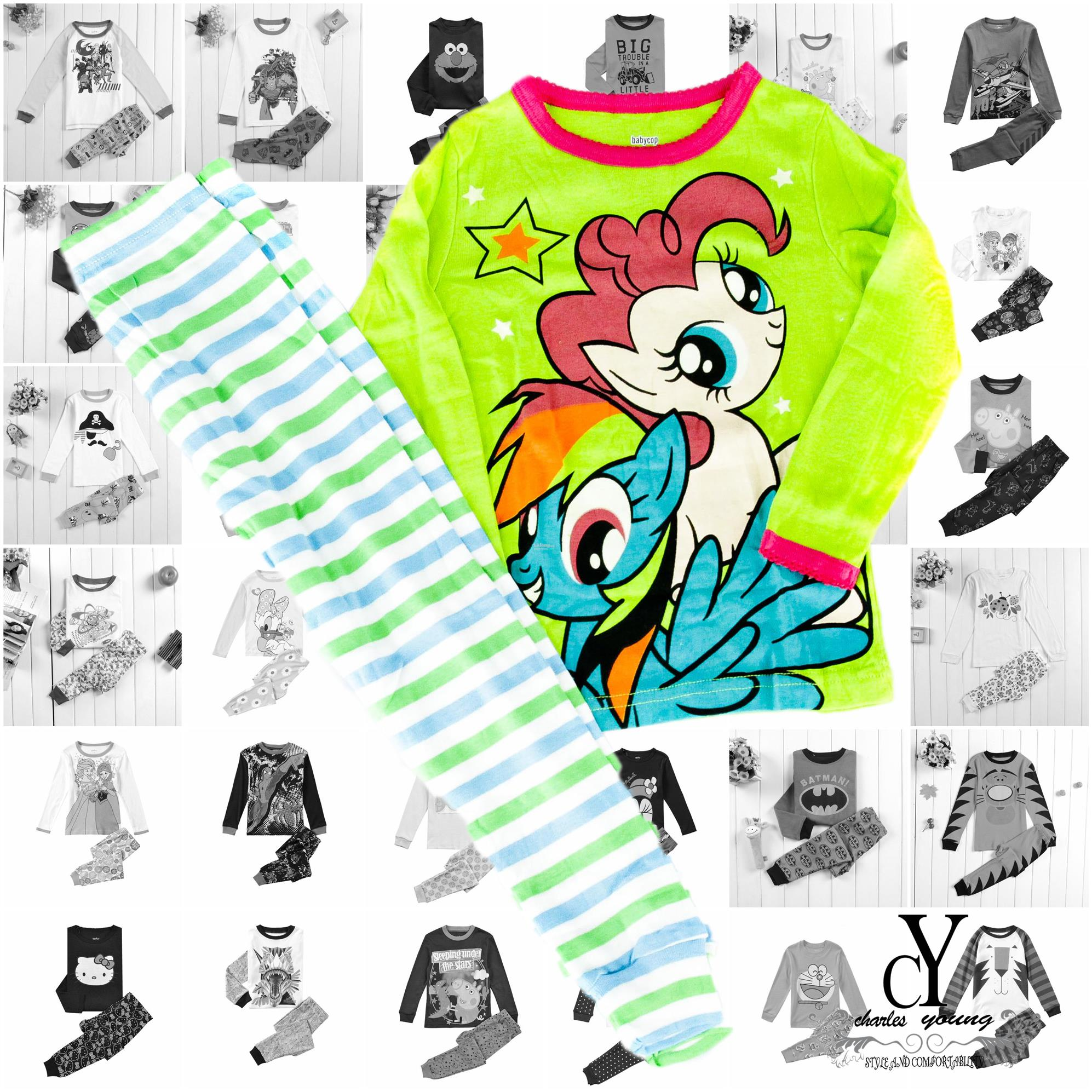 CHILDREN,PYJAMAS,PASANG,TIDUR,CARTOON,DISNEY,COTTON,PONY